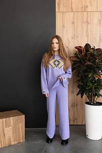 Набор: джемпер «Этно» и брюки (лиловый, желтый, черный)