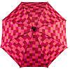 Оригинальный механический  зонт-трость в клетку EuroSCHIRM Swing W2U6-CWS4/SU18264 бордовый