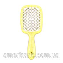 Гребінець для волосся лимонно-біла JANEKE Superbrush