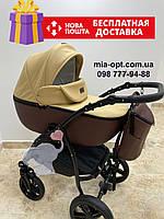 Детская коляска 2 в 1 Classik ( Классик) Victoria Gold эко кожа кор-беж