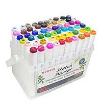 Скетч маркеры SketchMarker Swiss Ink двусторонние для бумаги набор 60 шт PM508-60