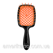 Гребінець для волосся чорна з помаранчевим JANEKE Superbrush