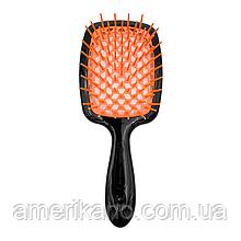 Расческа для волос черная с оранжевым JANEKE Superbrush