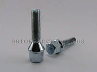 Болт с шестигранной головкой М12х1.25х45 конус, цинк, ключ 17
