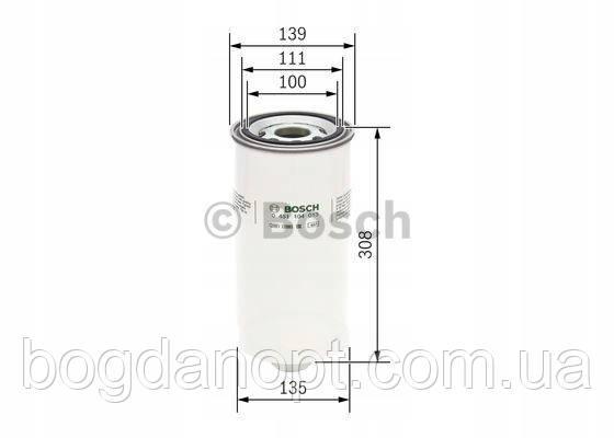 Фильтр масляный DAF (пр-во Bosch)  0 451 104 013