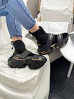 Женские черные брендовые кроссовки модные BALNQLM купить в Украине