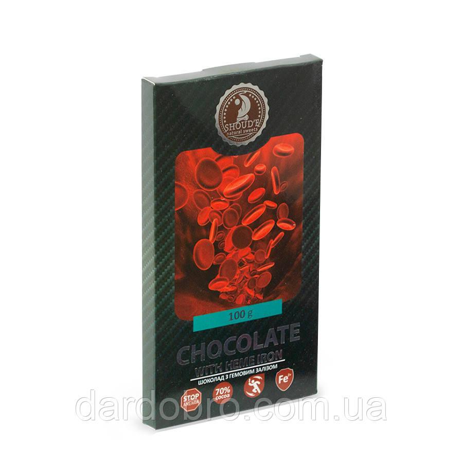 Шоколад чорний з гемовим залізом SHOUD'E