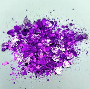 Блестки «Микс» фиолетовые  для слаймов (57516)