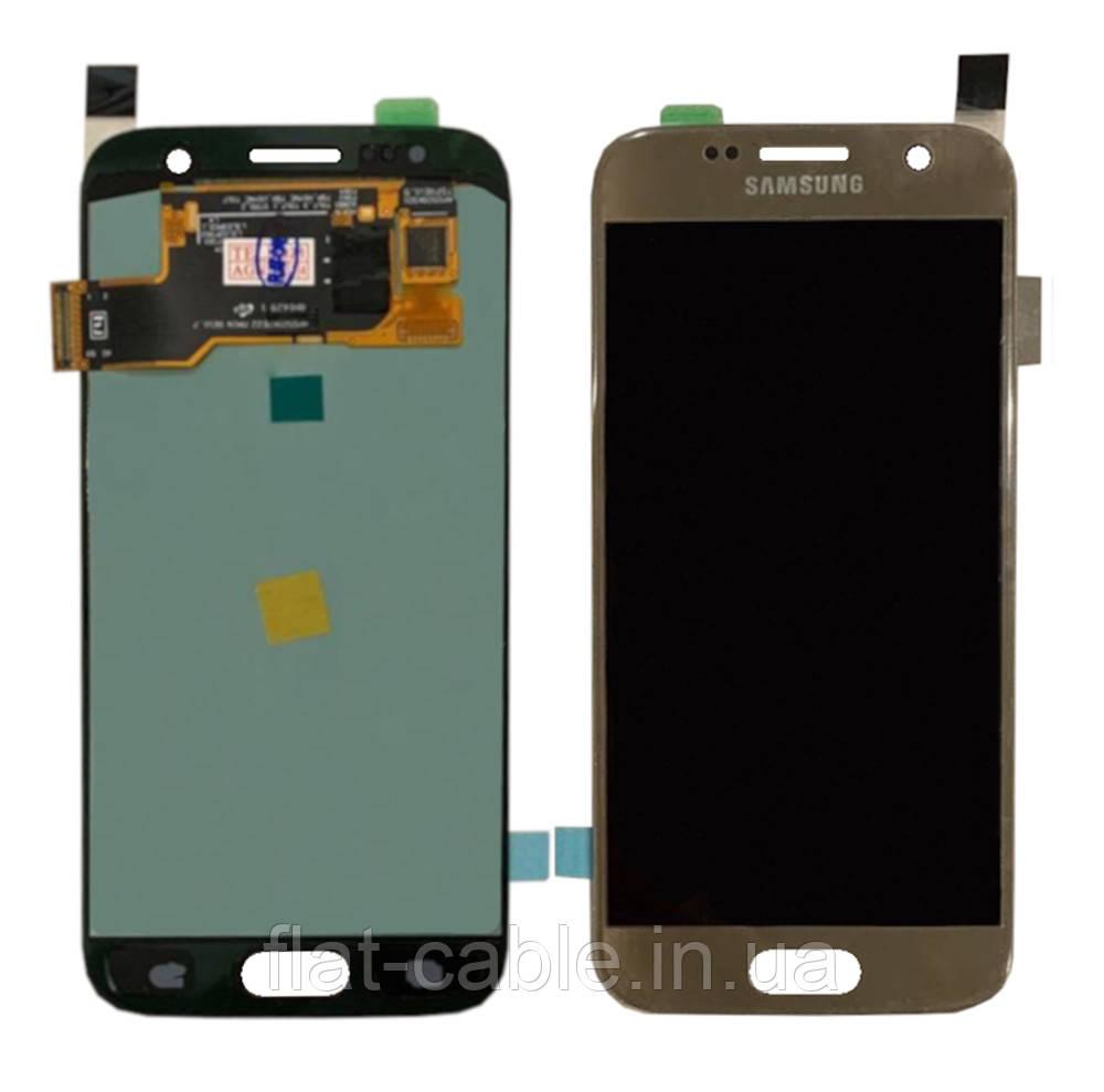 Дисплей + сенсор Samsung G930 Galaxy S7 Золотий Переклеювання