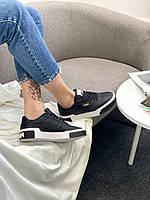 Женские кроссовки спортивные Пума черные кожаные Puma Cali Black купить в Украине
