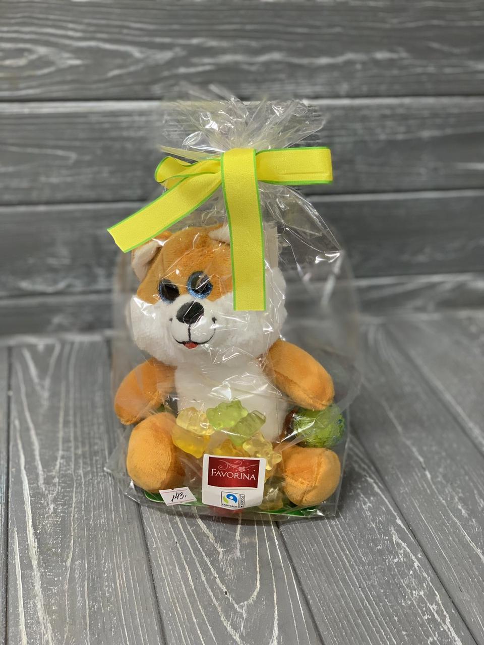 Подарунковий набір солодощів Favorina з іграшкою Лисеня, 75 г