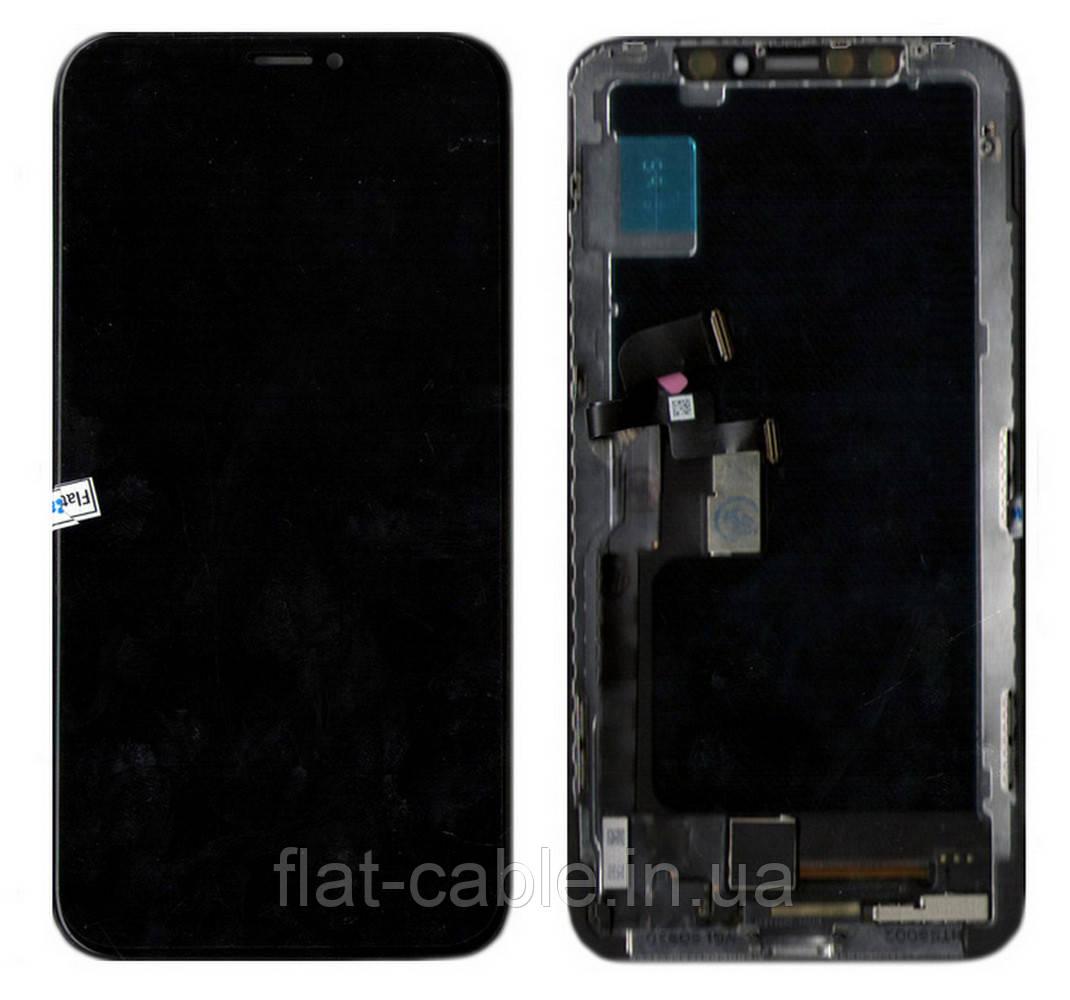 Дисплей (модуль) iPhone X (A1865/ A1901/ A1902) Черный TFT