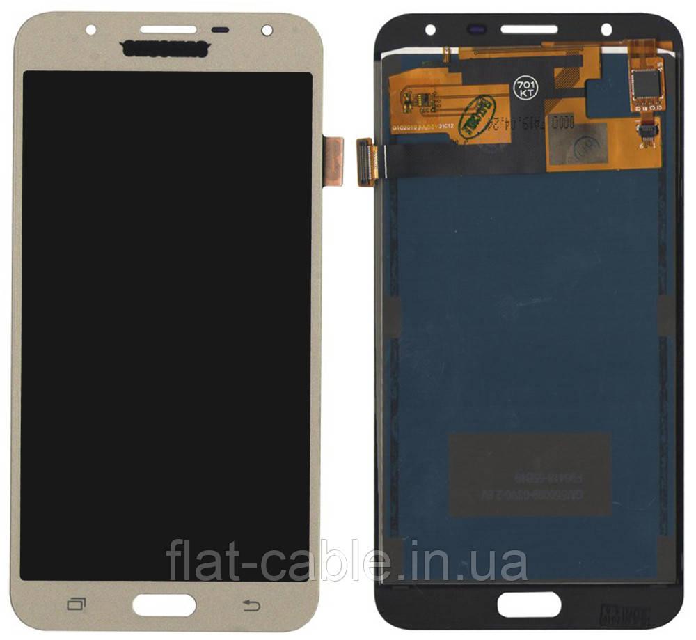 Дисплей + сенсор Samsung J701 J7 CORE Золотой LCD TFT, с регулировкой яркости