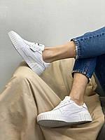 Женские кроссовки спортивные кожаные белые Пума Puma Cali White купить в Украине