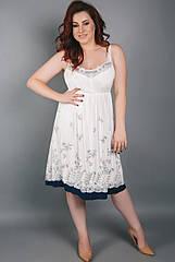 Сорочка нічна жіноча колір ecru, віскоза. ТМ Shato. Польща. XL. 3XL. 4XL