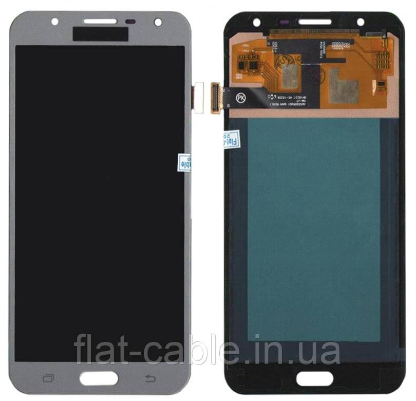 Дисплей + сенсор Samsung J701 J7 CORE Сірий LCD Incell Тонше на 25% від TFT