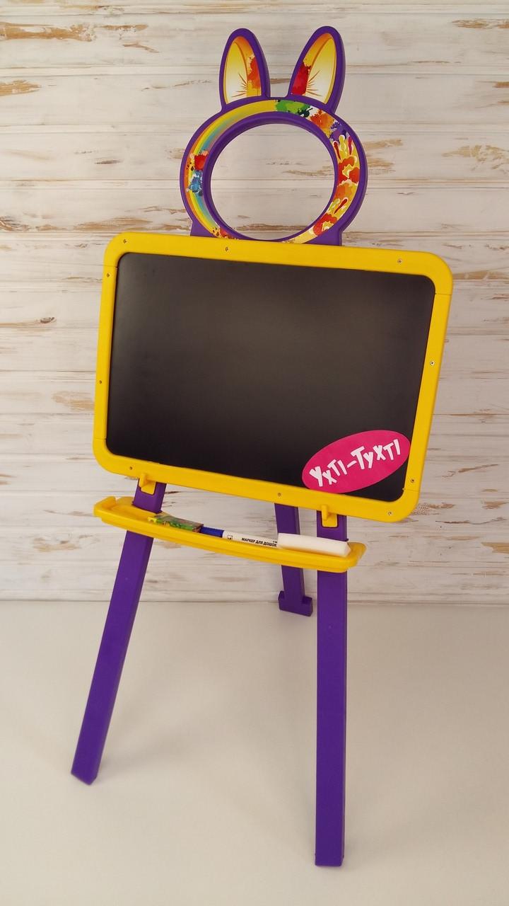 Магнітна дошка для малювання, жовто-фіолетовий, мольберт Doloni toys 013777/4