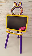 Доска для рисования магнитная, желто-фиолетовый, мольберт Doloni toys 013777/4