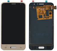 Дисплей + сенсор Samsung J120H J1 2016 Золотистий TFT, з регулюванням яскравості (ПОВНИЙ ЕКРАН)