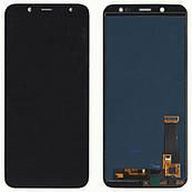 Дисплей + сенсор Samsung J600 Galaxy J6 Чорний LCD TFT, з регулюванням яскравості
