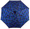 Удобный механический  зонт-трость в клетку EuroSCHIRM Swing W2U6-CWS6/SU18264 синий