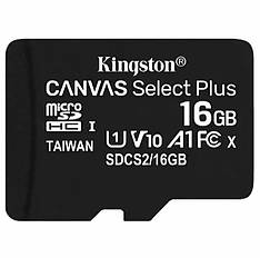 Карта памяти KINGSTON microSDHC 16GB UHS-I U1 Canvas Select Plus (SDCS/16GB)
