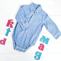 Боди-рубашка Картерс, цвет голубой 6м, 9м, 12м, 18м, 24м