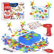 Конструктор-мозаика 3D 661-323 с набором инструментов, 300+ деталей BOHUI, в коробке
