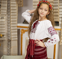 Юбка для девочки на запах в украинском стиле