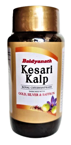Кесари Калп - королевский чаванпраш - обогащен золотом, серебром и шафраном Kesharprash (500gm)