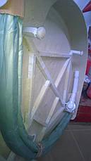 Душевая кабина полукруглая BADICO SAN 8001 Fabric 80х80х195 с низким поддоном и сифоном, фото 3