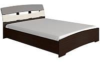 Кровать с матрасом двуспальная Марго венге темный + дуб молочный Эверест (165х220х90 см)