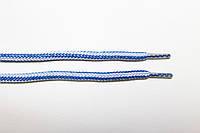Шнурки круглые 5мм с наполнителем василек (электрик)+белый