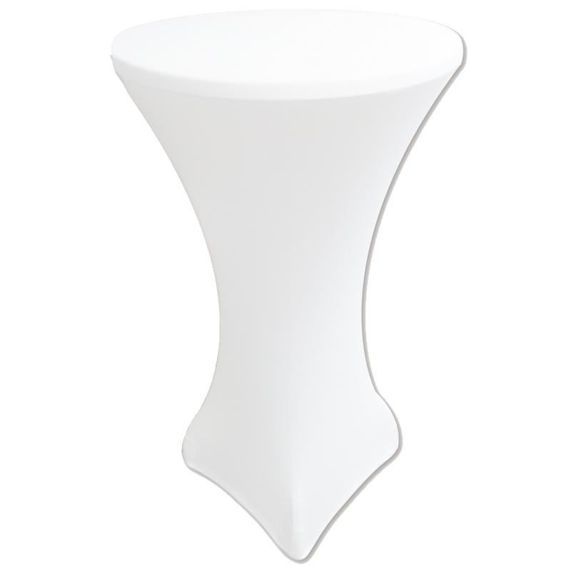 """Стрейч чохол на стіл """"Віктор"""" 60/110 Білий з щільної тканини Спандекс"""