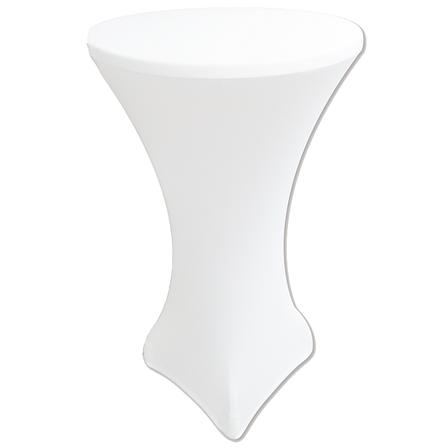 """Стрейч чохол на стіл """"Віктор"""" 60/110 Білий з щільної тканини Спандекс, фото 2"""
