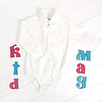 Боди-рубашка Картерс, цвет   белый 9м, 12м, 18м, 24м