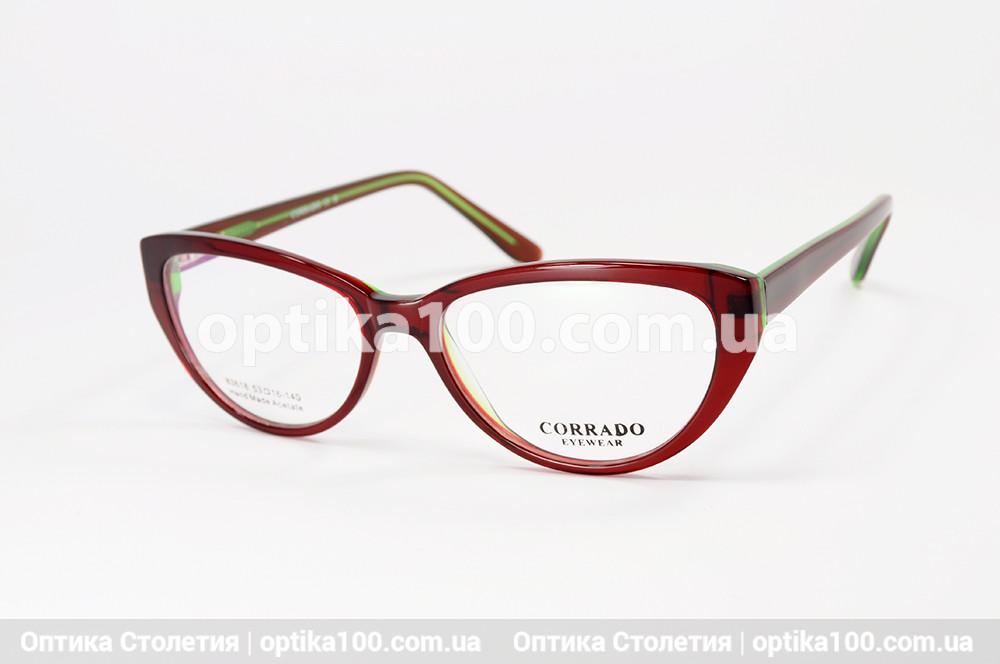 Оправа окулярів жіноча Corrado 83618. Бордово-зелена