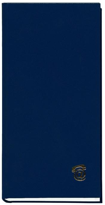 Книга алфавитная, А6, 80 листов, синий