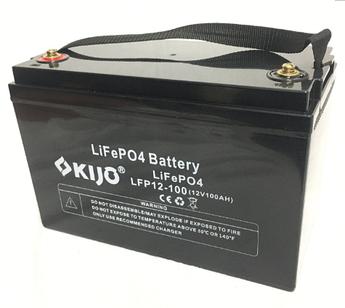 Аккумулятор Kijo FePO4-12V100Ah Lithium Iron Phosphate, 2000 циклов, АКБ без последовательного соединения