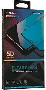 Защитное стекло iPhone XS Max с черной окантовкой на экран телефона Gelius Pro 5D Clear Glass.
