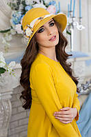 Шляпа женская летняя «Марсель роза» (горчичный)