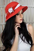 Шляпа женская летняя «Марсель роза» (красный)