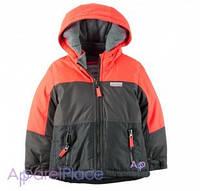 Carter's Куртка серо-оранжевая на флисе 5-18