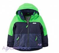 Carter's Куртка сине-зеленая на флисе