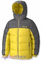 Marmot Куртка на пуху Boy's Guides Down Hoody(Acid Yellow/Cinder)