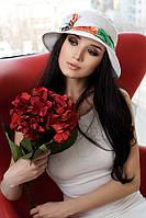 Шляпа женская летняя «Марсель роза» (белый)