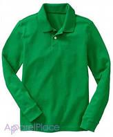 OldNavy Поло зеленое с длинным рукавом