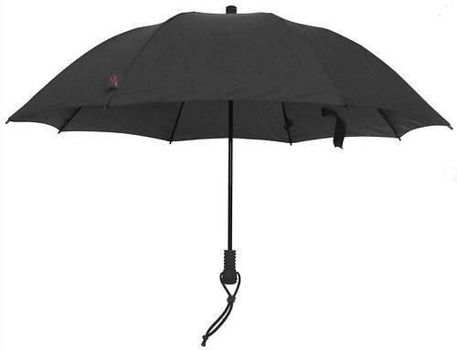 Практичный мужской надежный  зонт-трость EuroSCHIRM Swing Flashlite W2F69120/SU14314 черный