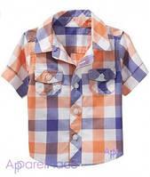 OldNavy Рубашка в оранжево-голубую клетку