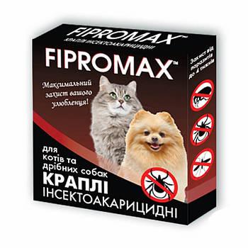 Капли от блох и клещей для собак Fipromax 4-10 кг
